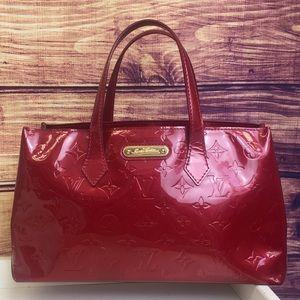 Louis Vuitton Red Vernis Wilshire PM Bag